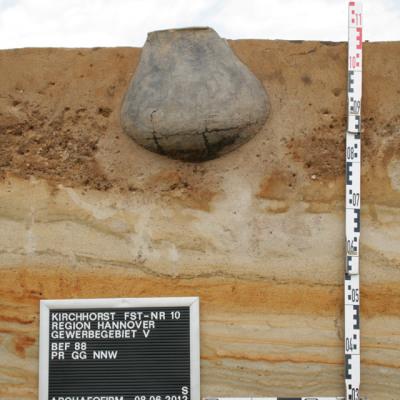 Urnengrab im Profil
