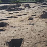 Blick über die Ausgrabungsfläche