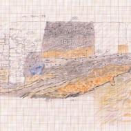 Abb. 8 Zeichnung der in den Keller führenden Rampe (Bef. 169), die auf der Fotografie in der linken unteren Ecke noch erkennbar ist