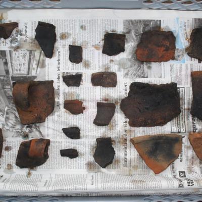 Keramikfunde von Fundstelle 43