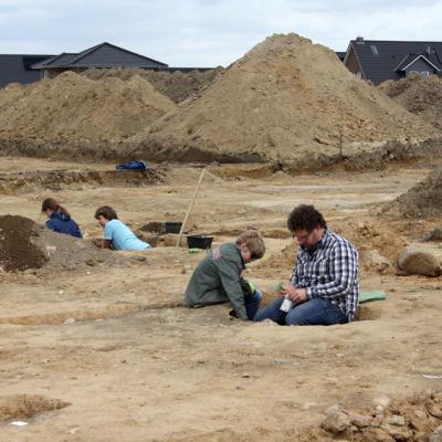 Archaeologie AG auf der Ausgrabung in Harsefeld