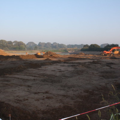 Überblick über die Ausgrabungsfläche